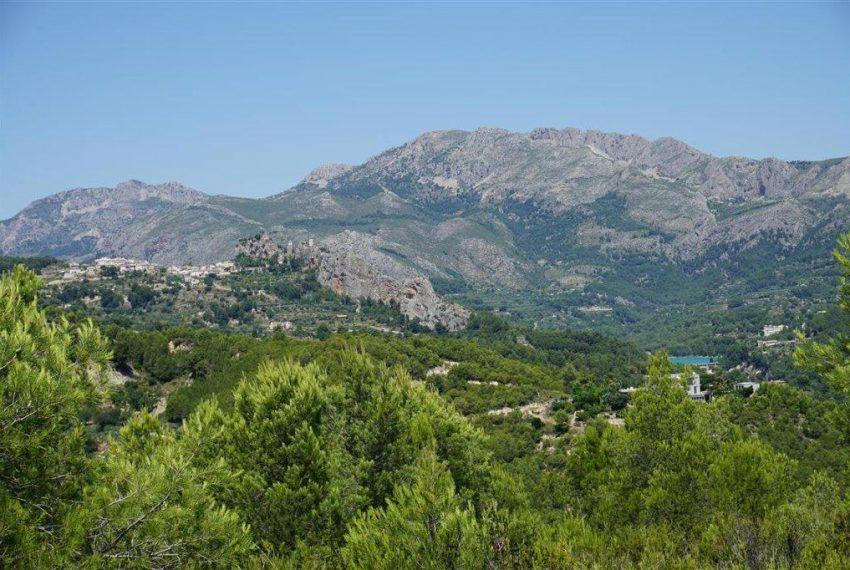Sicht auf Castell de Guadalest